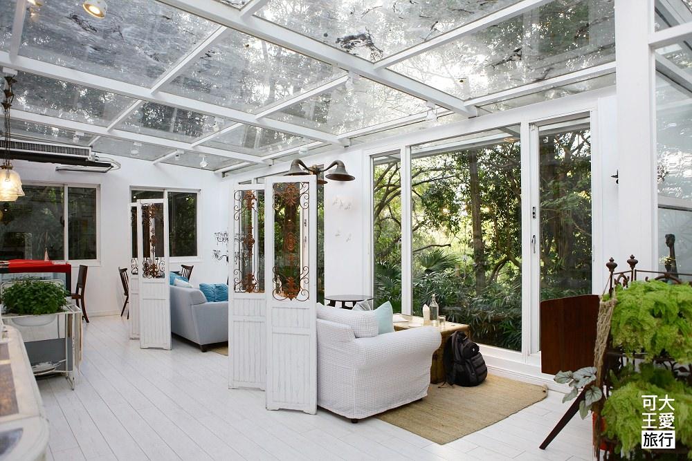 陽明山美食餐廳》好樣秘境,森林系白色浪漫玻璃屋,最強室內景觀餐廳