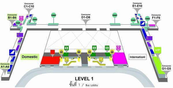 曼谷機場1F(Bus, Lobby).JPG